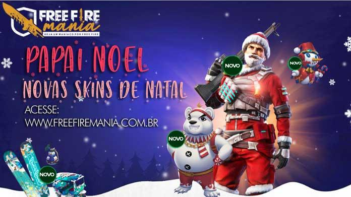 Papai Noel e as Novas Skins de Natal no Free Fire
