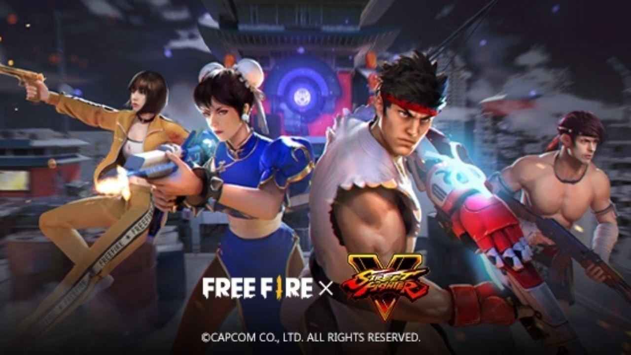 Parceria entre Free Fire e Street Fighter V entra em seu round final neste sábado