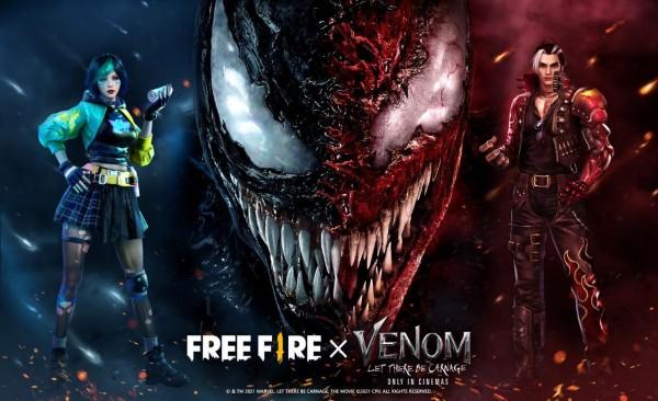 Parceria entre Garena Free Fire e o filme Venom 2, Tempo de Carnificina, chega em 10 de Outubro
