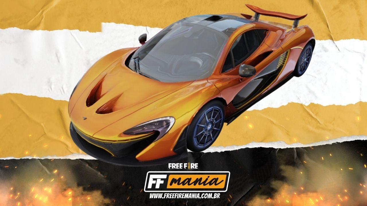 Parceria Free Fire e McLaren dão vida ao veículo McLaren P1™️, veja como conseguir a skin Papaya