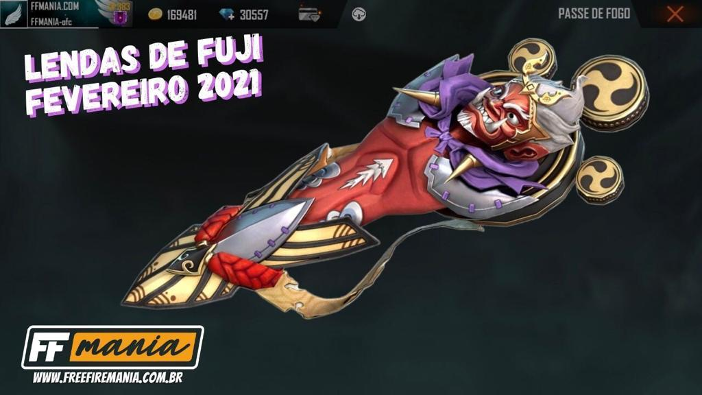 Passe de Elite Fevereiro 2021 Free Fire: confira a Prancha Onimaru, pré-venda do Lendas de Fuji