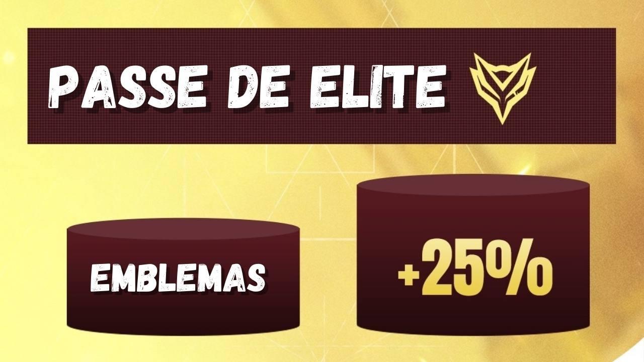 Passe de Elite Free Fire: 25% mais emblemas, missões semanais, confira!