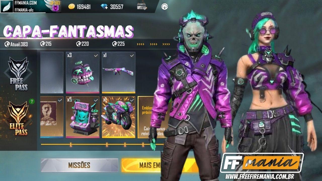 Passe de Elite Janeiro 2021 Free Fire: Capa-Fantasmas