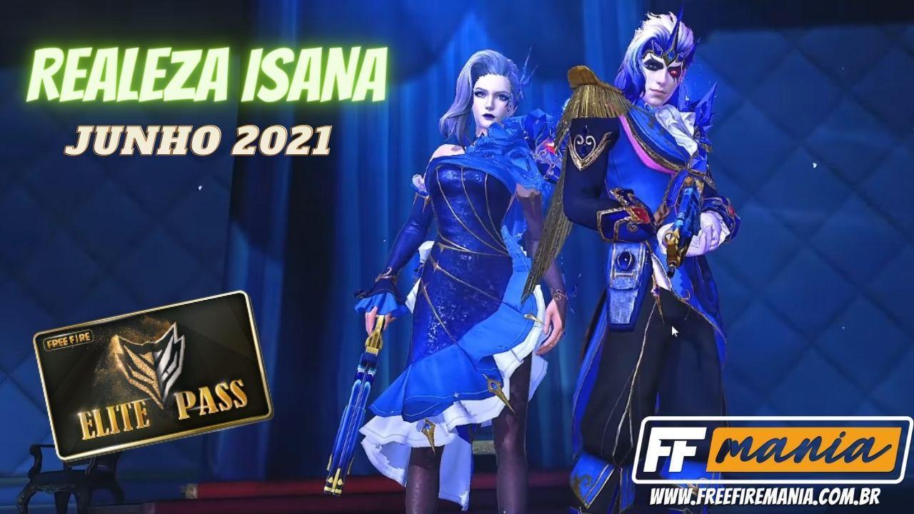 Passe de Elite Junho 2021: 37ª temporada traz a temática Realeza Insana para o Free Fire