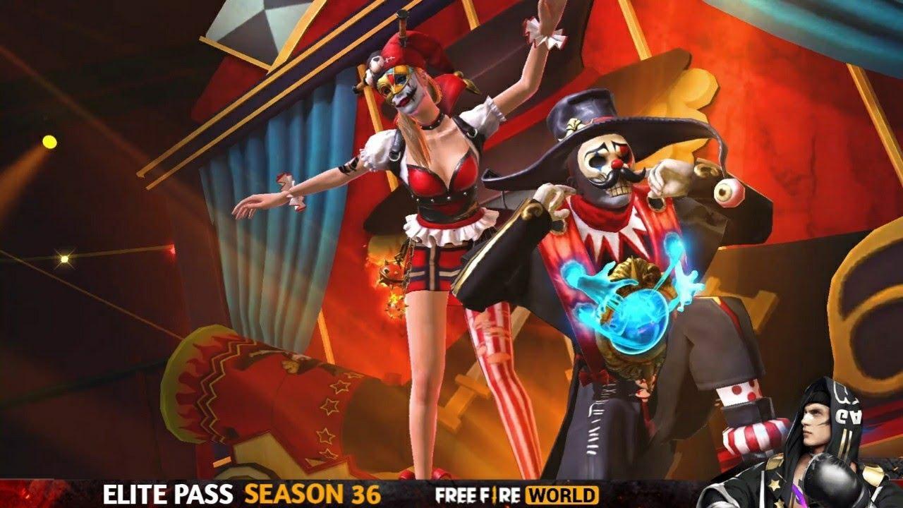 Passe de Elite Maio 2021 Free Fire (FF): 36ª temporada traz a temática Circo Maníaco