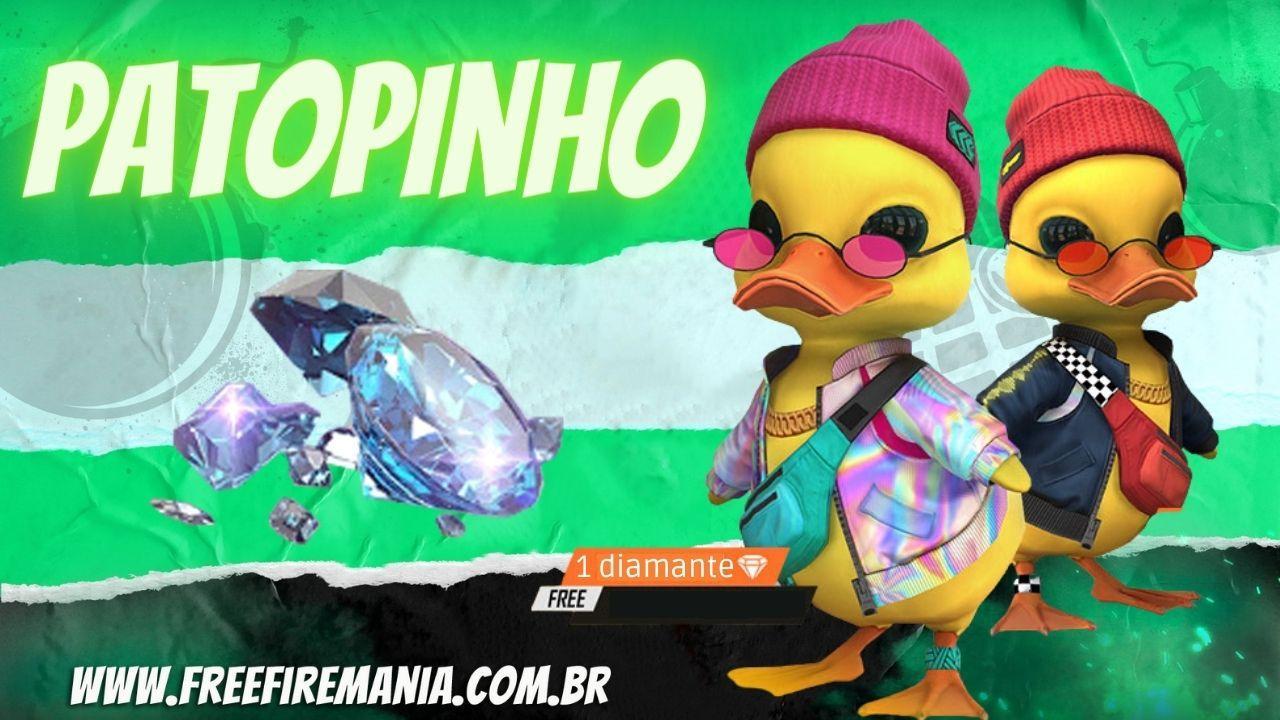 PaTopinho é o novo pet do Free Fire e chega em evento de recarga por apenas 1 diamante