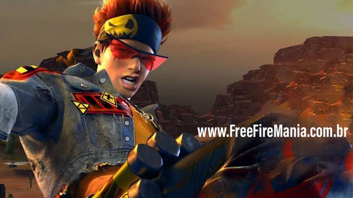 Personagem Alvaro chegando ao Free Fire