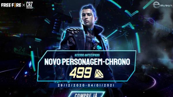 Personagem Chrono chega à loja do Free Fire por 499 diamantes, confira os detalhes