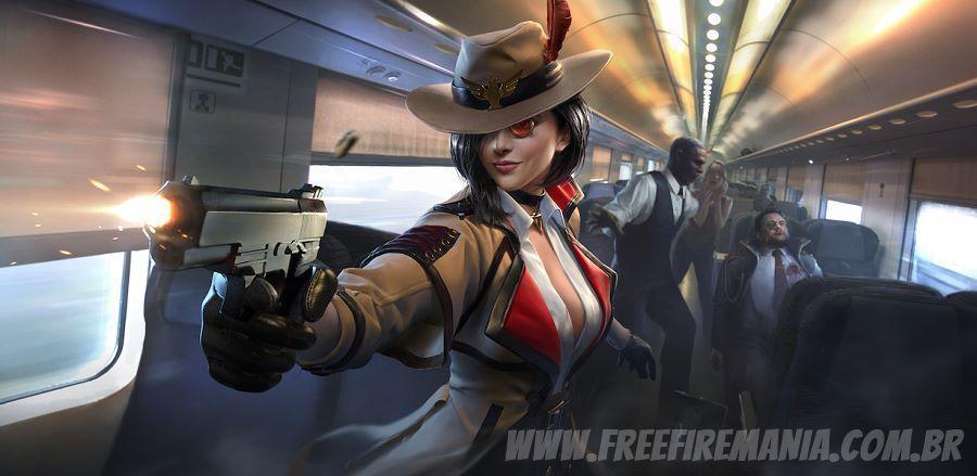 Personagem Evelyn disponível na Loja do Free Fire
