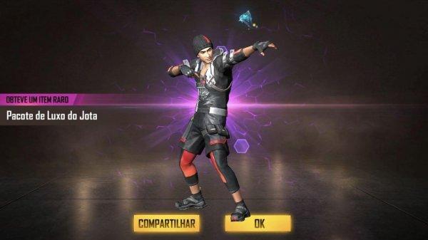 Personagem Jota disponível no Free Fire