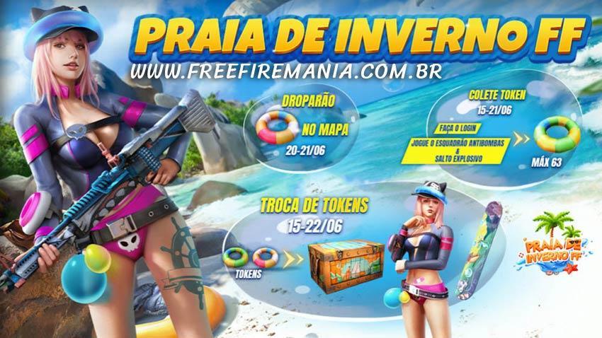Evento Praia de Inverno FF dará o novo pacote Booyah de Emergência Grátis