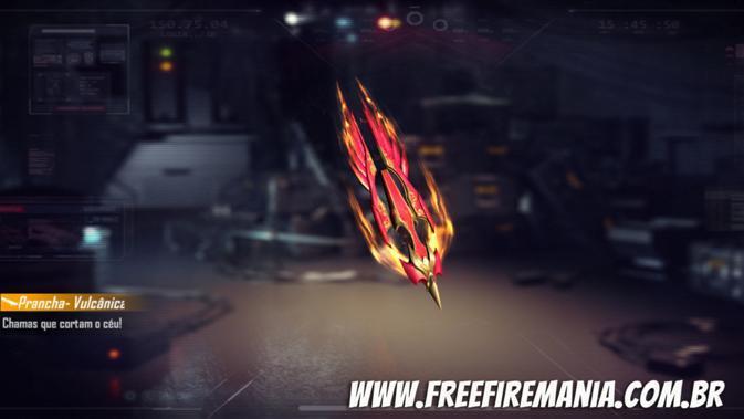 Prancha Vulcânica disponível gratuitamente no Free Fire neste sábado, saiba como conseguir