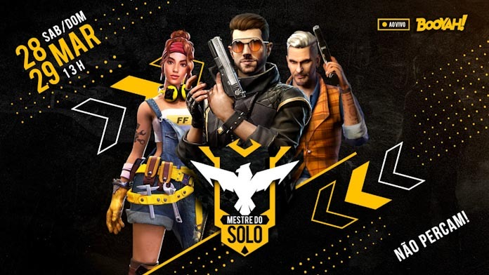 Pro players e influenciadores disputam competição Mestre do Solo no Free Fire