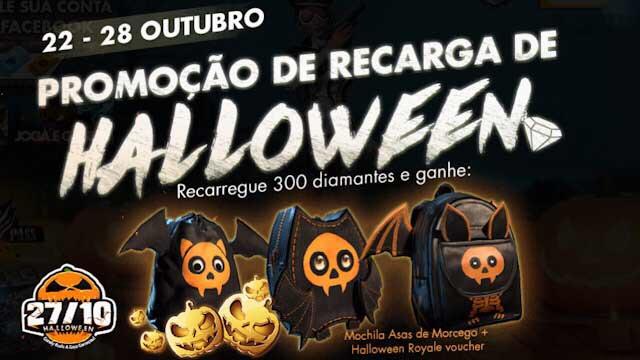Promoção de Recargas do Halloween