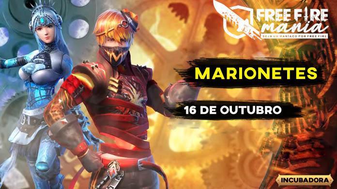 Próxima Incubadora no Free Fire: Marionetes