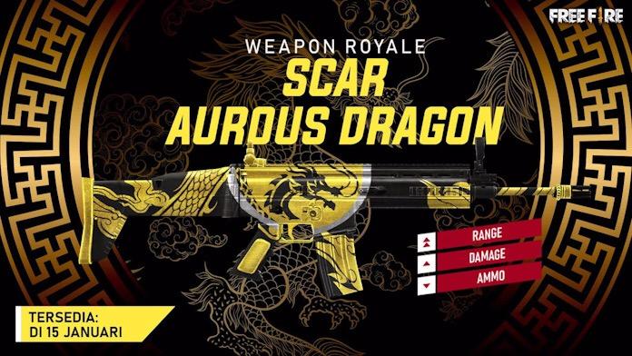 Senjata Royale Bekas Luka Dragon Selanjutnya dalam Free Fire