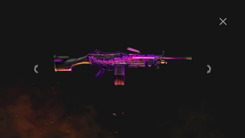 Próximo Arma Royale traz a skin da M249, a Rambão do Free Fire