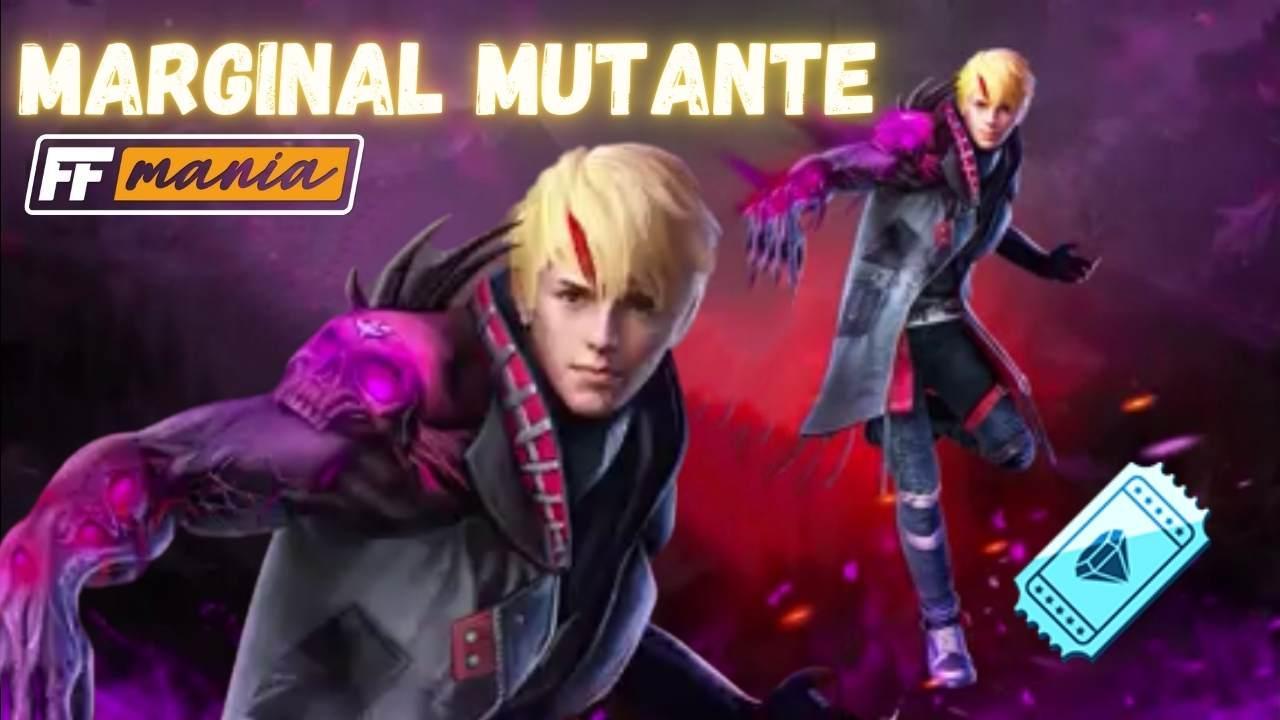 Próximo Diamante Royale do Free Fire com o pacote Marginal Mutante