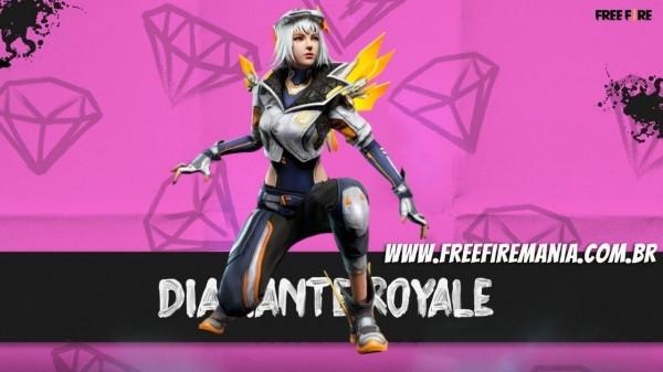 Próximo Diamante Royale do Free Fire trás o pacote feminino Paladina Biônica, confira os detalhes