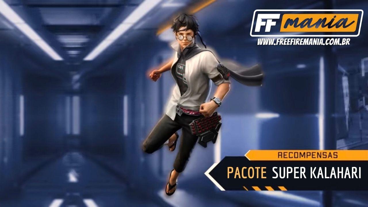 Próximo Ouro Royale do Free Fire: pacote Super Kalahari chega na roleta do Battle Royale