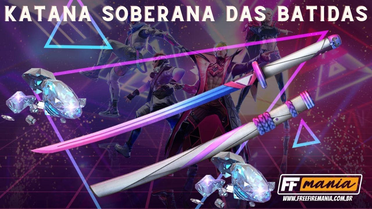 Recarga Free Fire: Katana Soberana das Batidas e Barraca do Beijo são os prêmios do evento
