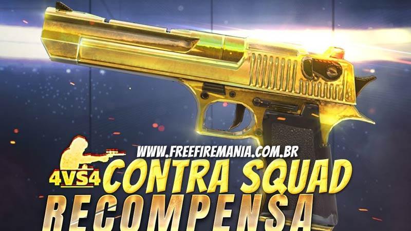 Recompensas do Contra Squad Ranqueado no Free Fire