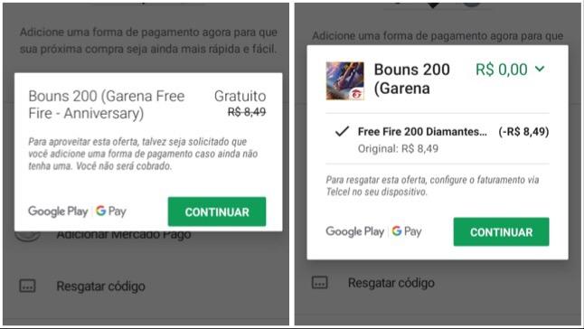 Resgate Agora 200 Diamantes na Google Play Grátis!