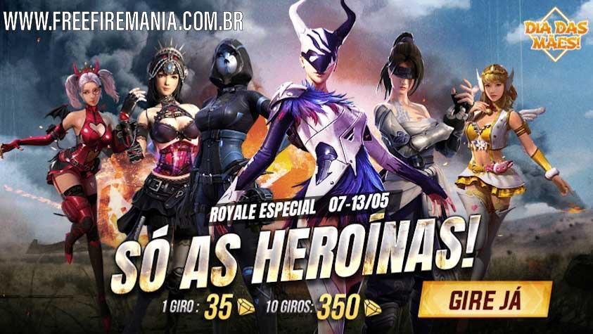 Royale Especial no Free Fire: Só as Heroínas