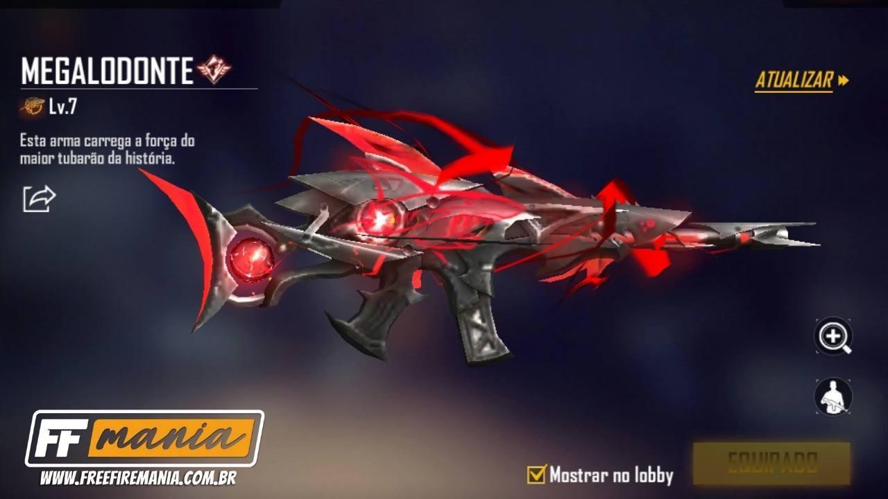 SCAR Megalodonte Free Fire: quanto custa e como conseguir a mais nova skin evolutiva do jogo