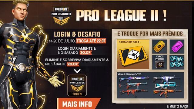 Semana da Pro League II - Muitos Prêmios GRÁTIS!