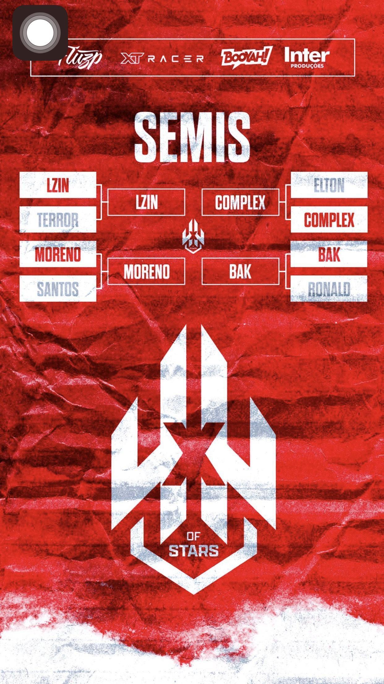 Bak, Complex, Moreno e Lzinn estão na semi-final do