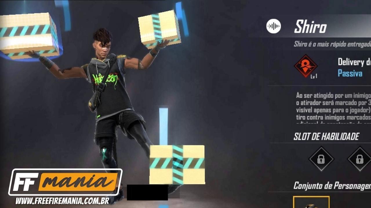 Shiro Free Fire: novo personagem de 2021 é um entregador de delivery, confira sua habilidade