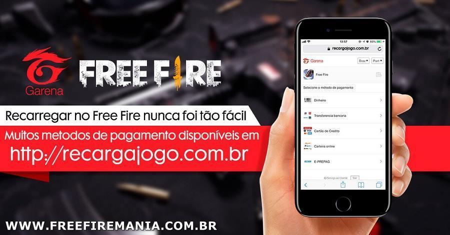 Site Recarga Jogo do Free Fire está fora do ar e não carrega a página