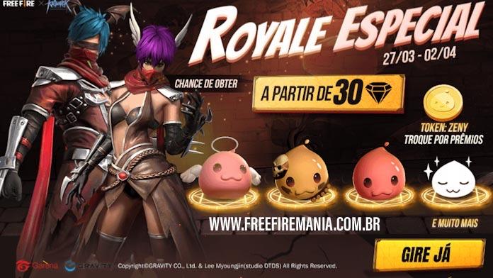 Sorte Royale Especial: chances de ganhar as skins do Ragnarok no Free Fire