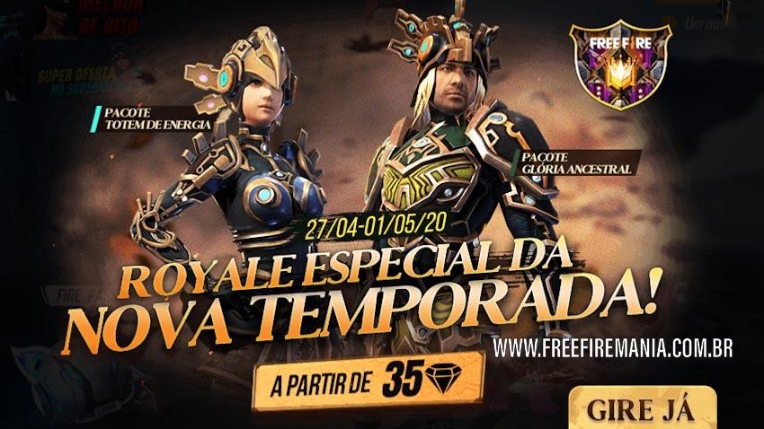 Sorte Royale Especial da Nova Temporada do Free Fire