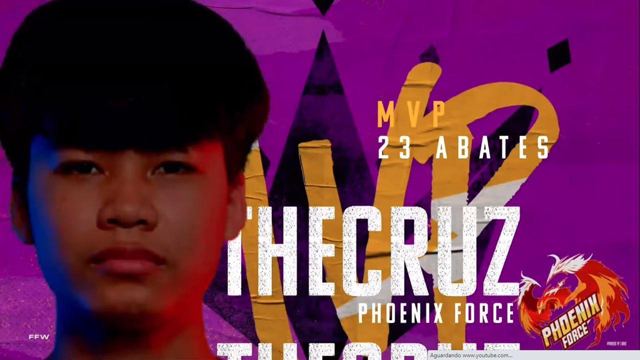 TheCruz, da Phoenix Force, é o melhor jogador do mundo de Free Fire após conquistar o MVP do mundial
