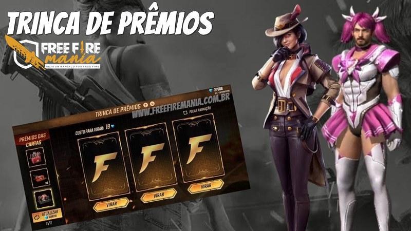 Trinca de Prêmios Free Fire: evento traz skins raras de volta ao jogo
