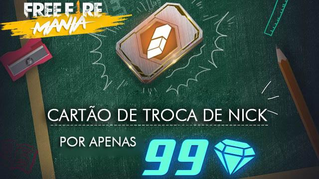 Troca de Nick por 99 Diamantes na Tailândia