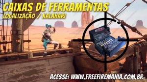 Upador de Colete no Kalahari: Saiba onde encontrar todas as Caixas de Ferramenta no Mapa
