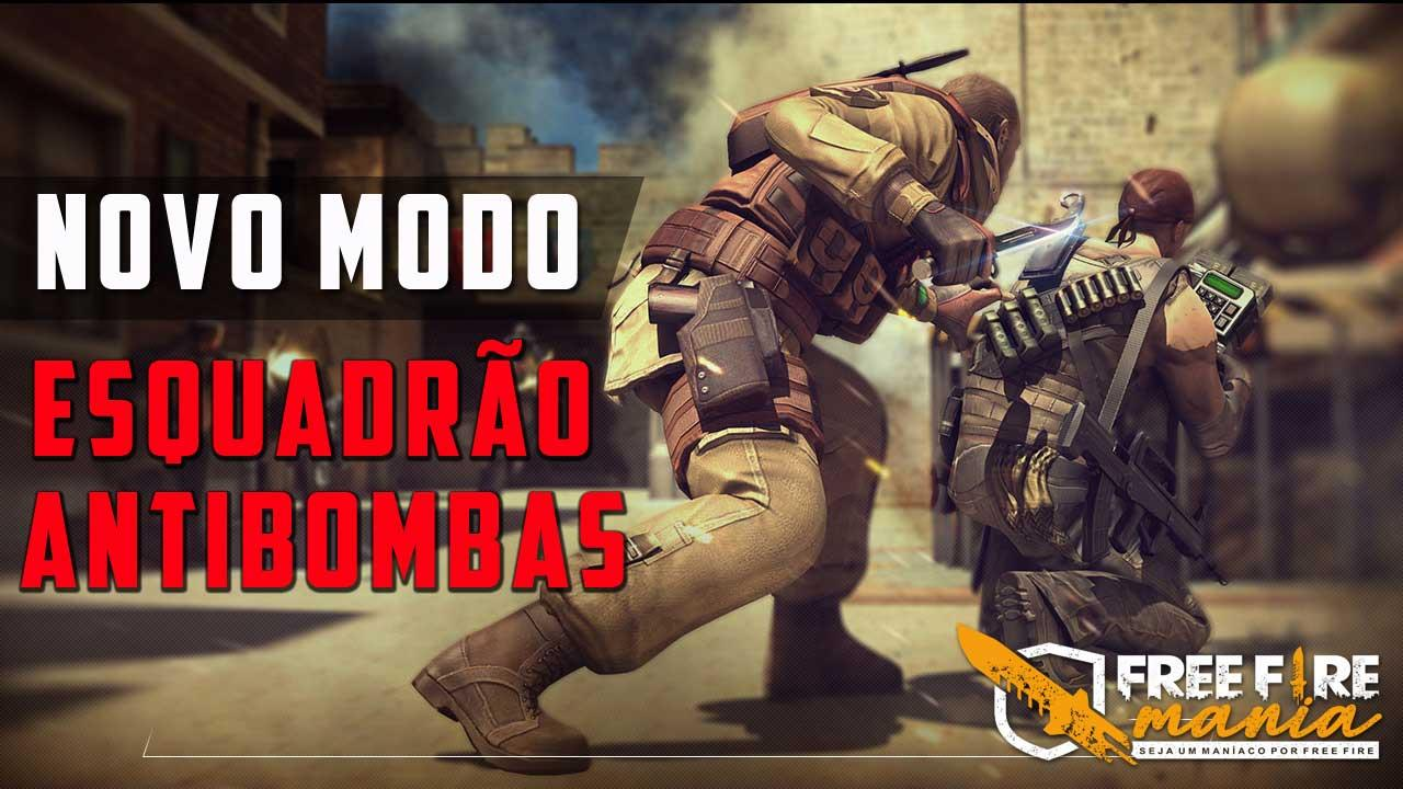 Novo Modo Esquadrão Antibombas no Free Fire