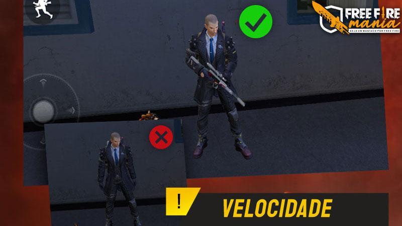 Kecepatan: atribut baru di senjata Free Fire