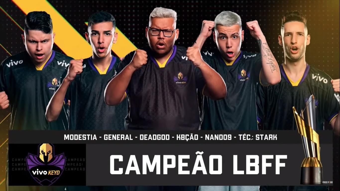 Vivo Keyd é a campeã da Liga Brasileira de Free Fire (LBFF) 5