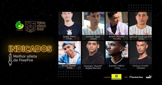 Vote no Melhor Jogador de Free Fire do Brasil em 2019