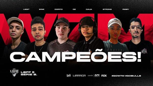W7M Gaming é a campeã da LBFF 5 Série B e sobe para a Série A junto com a Black Dragons